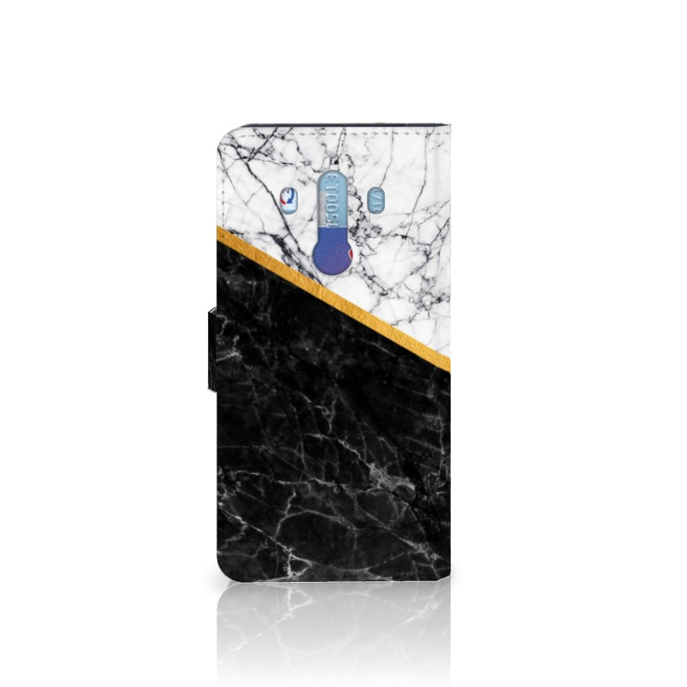 Huawei Mate 10 Pro Bookcase Marmer Wit Zwart