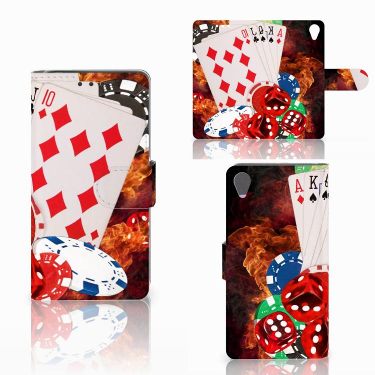 Sony Xperia X Wallet Case met Pasjes Casino