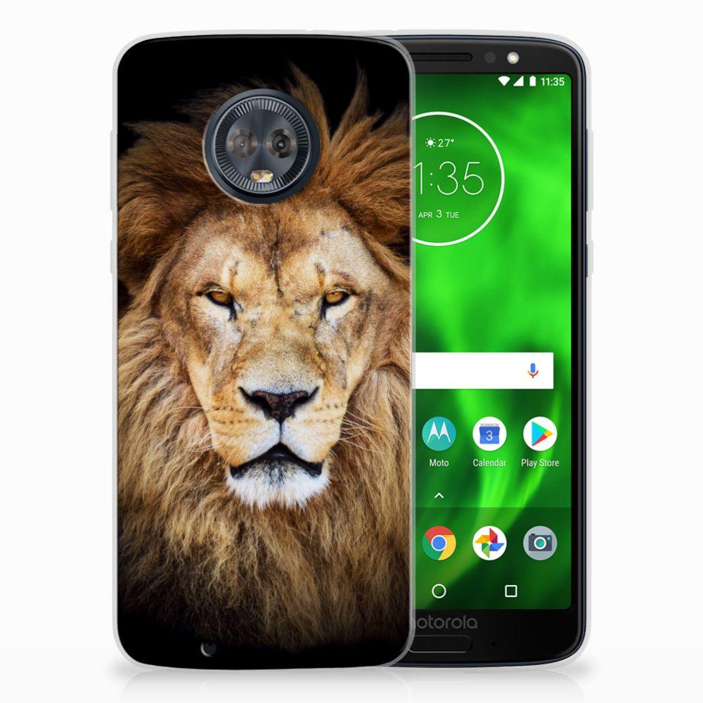 Motorola Moto G6 TPU Hoesje Design Leeuw