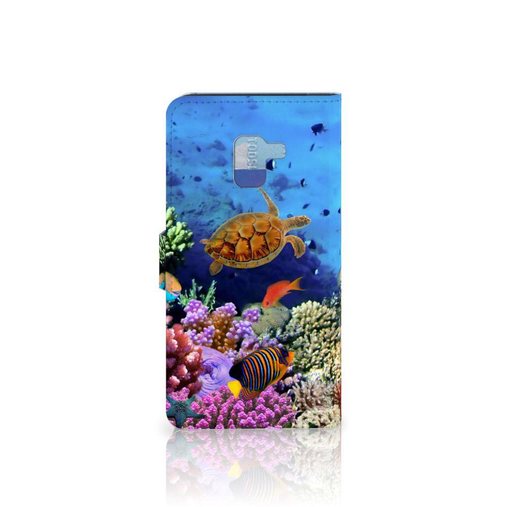 Samsung Galaxy A8 Plus (2018) Telefoonhoesje met Pasjes Vissen