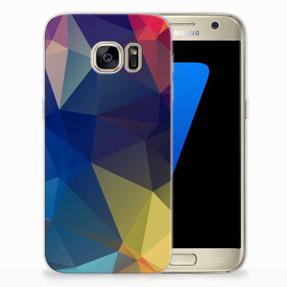 Samsung Galaxy S7 TPU Hoesje Polygon Dark