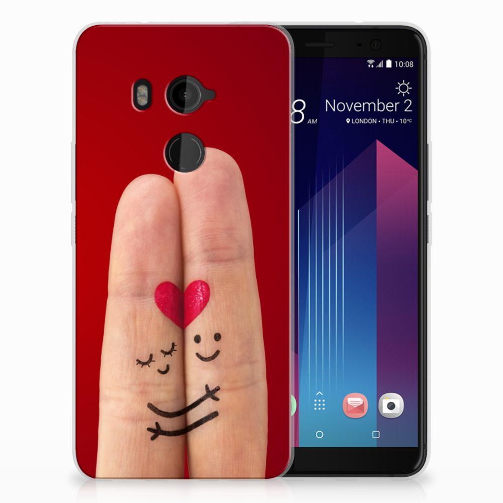 HTC U11 Plus Uniek TPU Hoesje Liefde