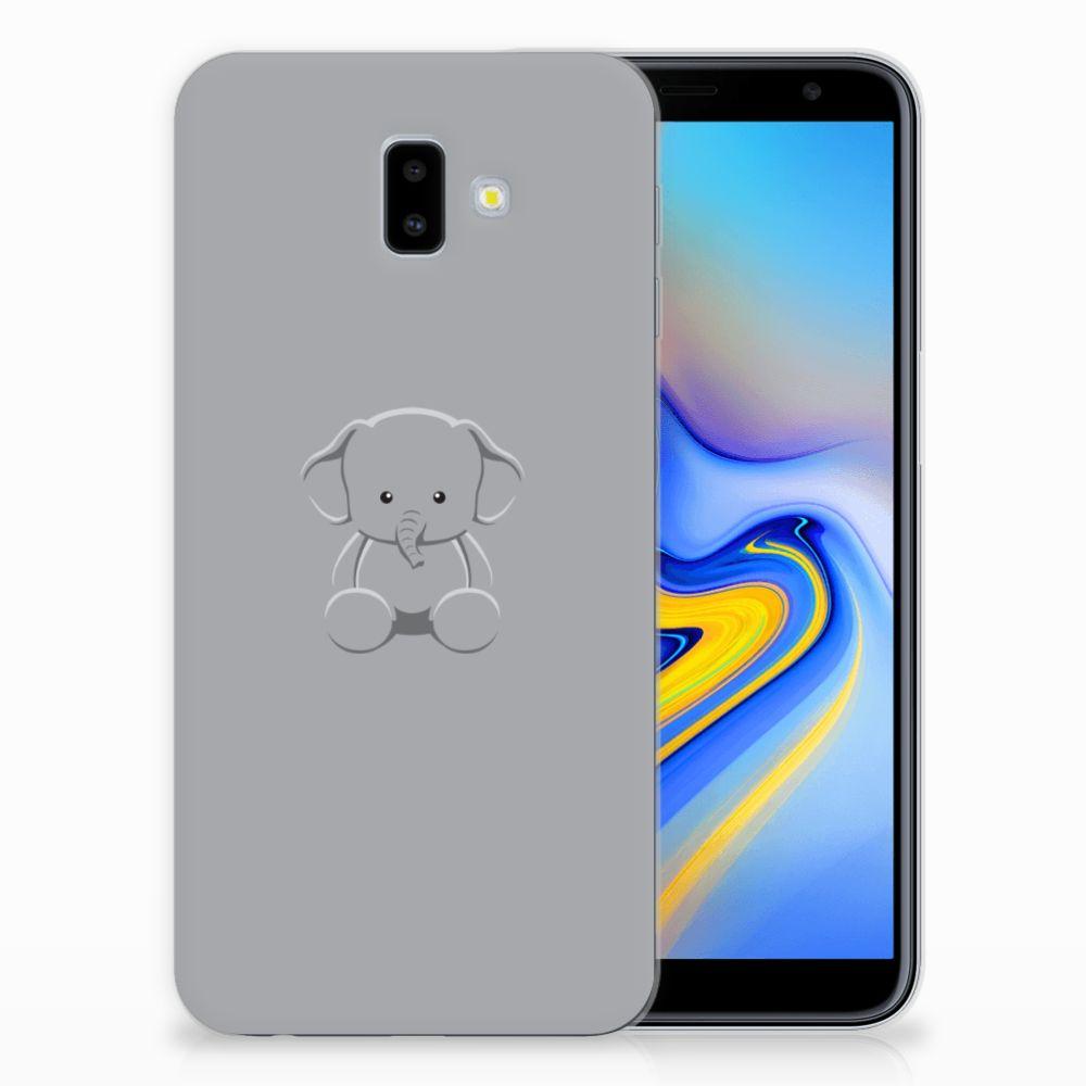 Samsung Galaxy J6 Plus (2018) Telefoonhoesje met Naam Grijs Baby Olifant
