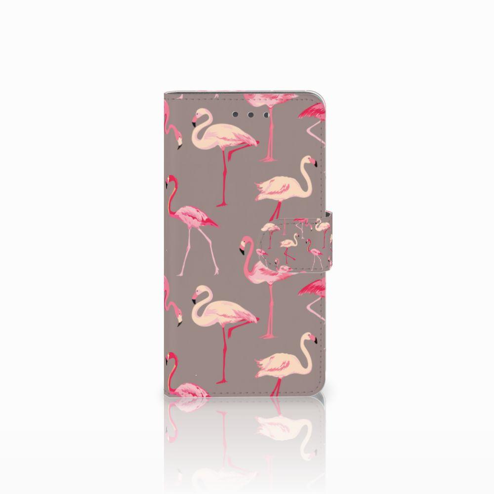 Wiko Fever (4G) Uniek Boekhoesje Flamingo
