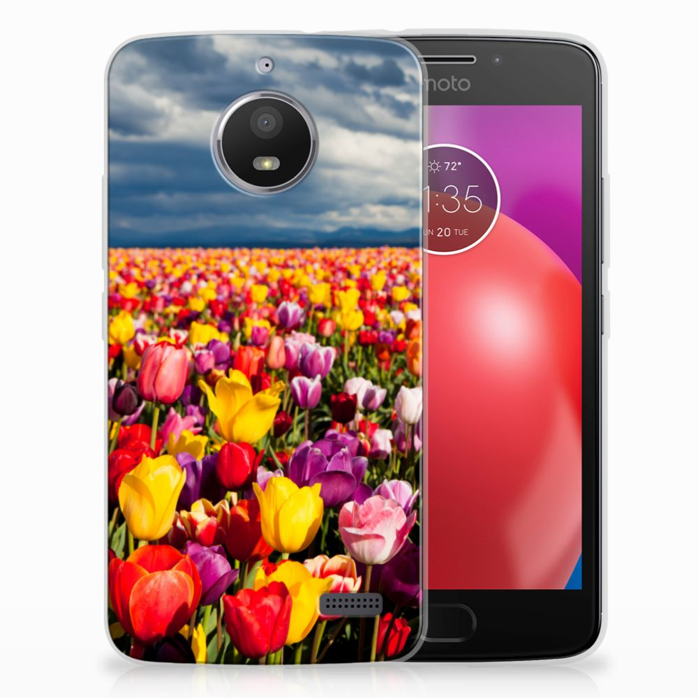 Motorola Moto E4 Uniek TPU Hoesje Tulpen