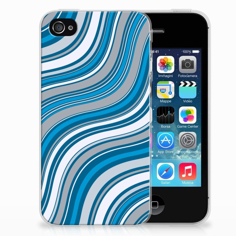 Apple iPhone 4 | 4s TPU bumper Waves Blue