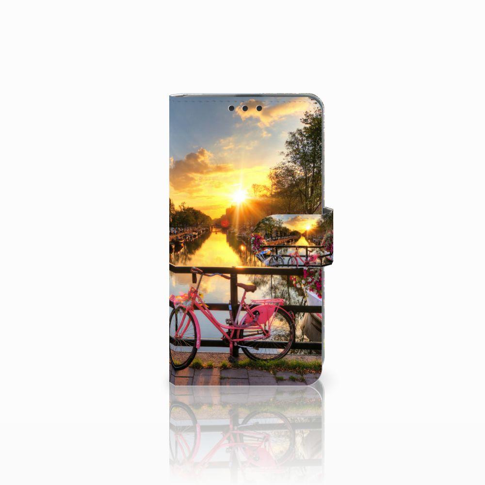 Microsoft Lumia 535 Uniek Boekhoesje Amsterdamse Grachten