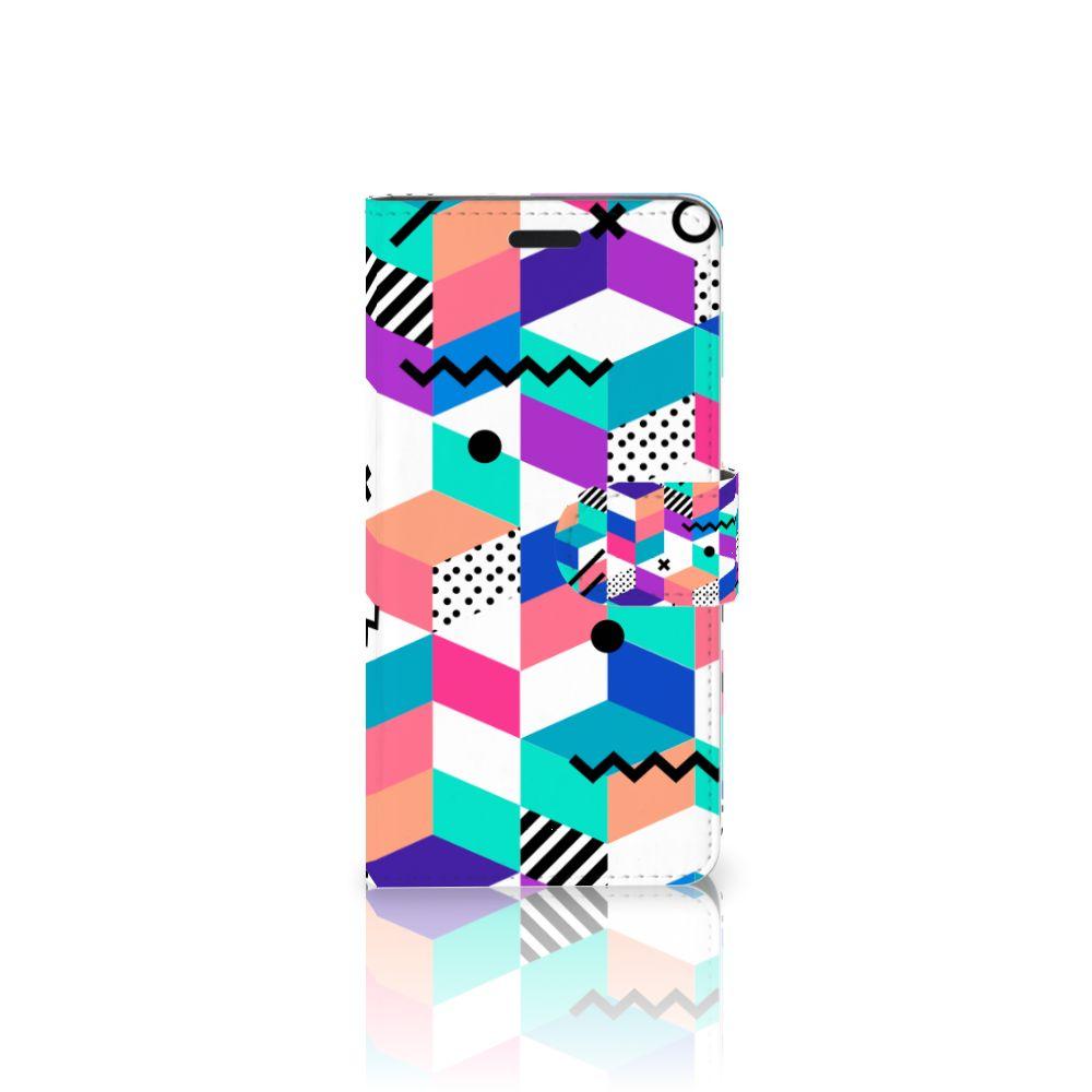 HTC 10 Boekhoesje Design Blocks Colorful