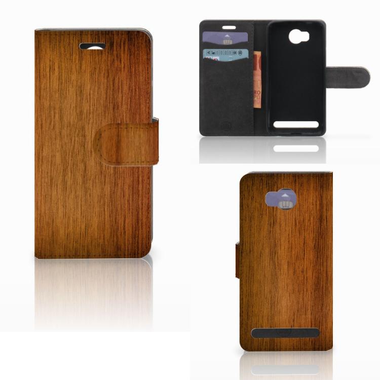 Huawei Y3 2 | Y3 II Book Style Case Donker Hout