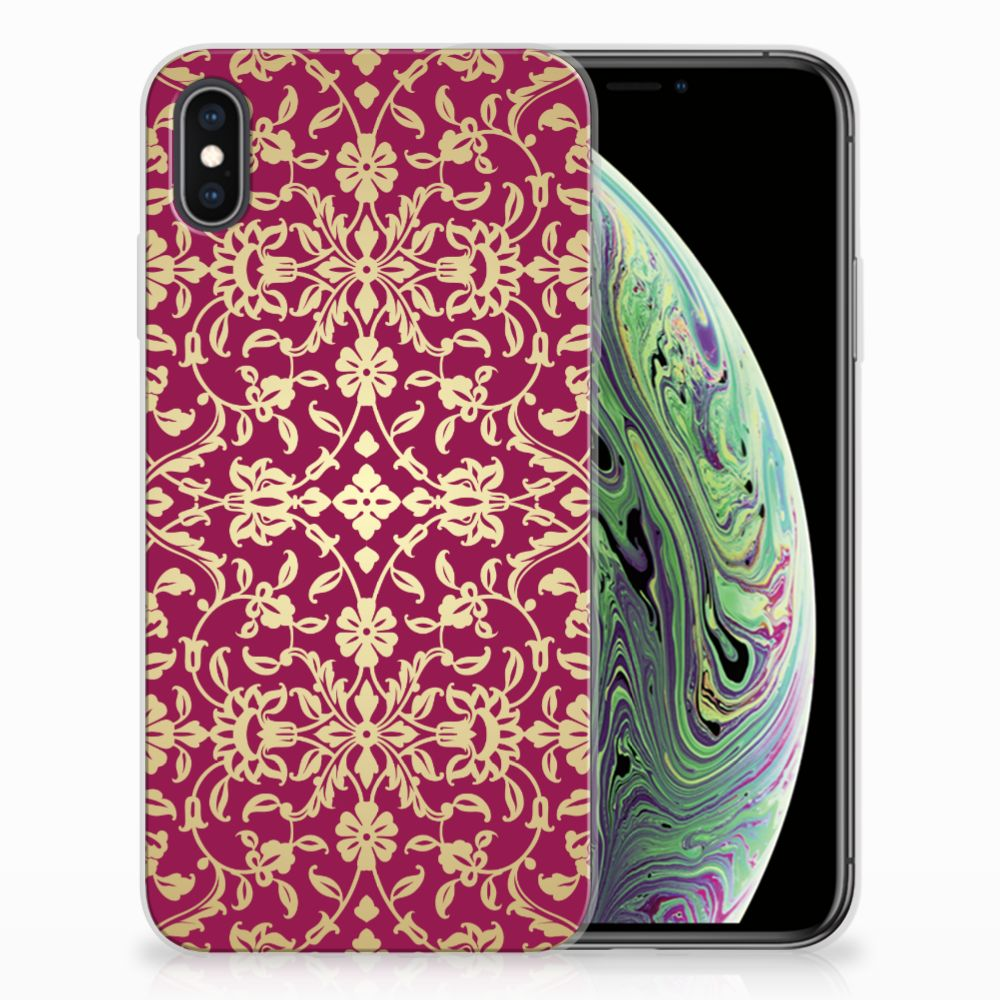 Siliconen Hoesje Apple iPhone Xs Max Barok Pink