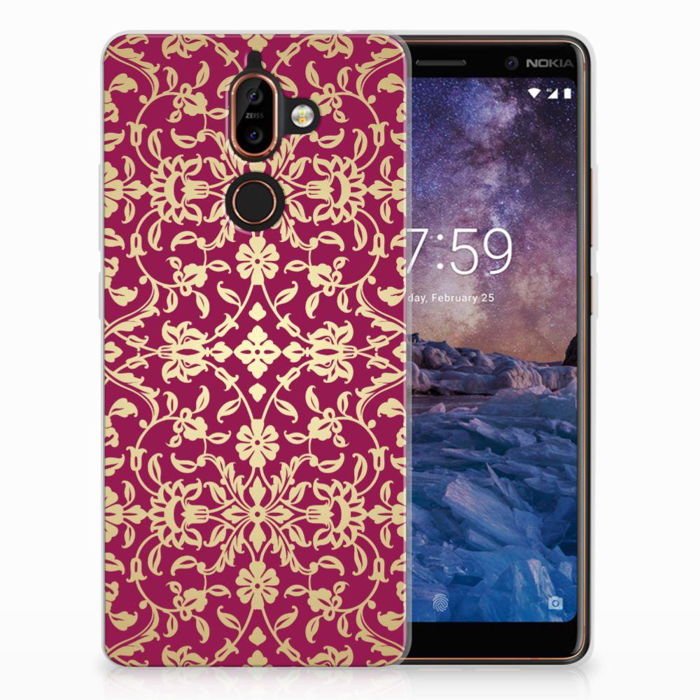 Siliconen Hoesje Nokia 7 Plus Barok Pink