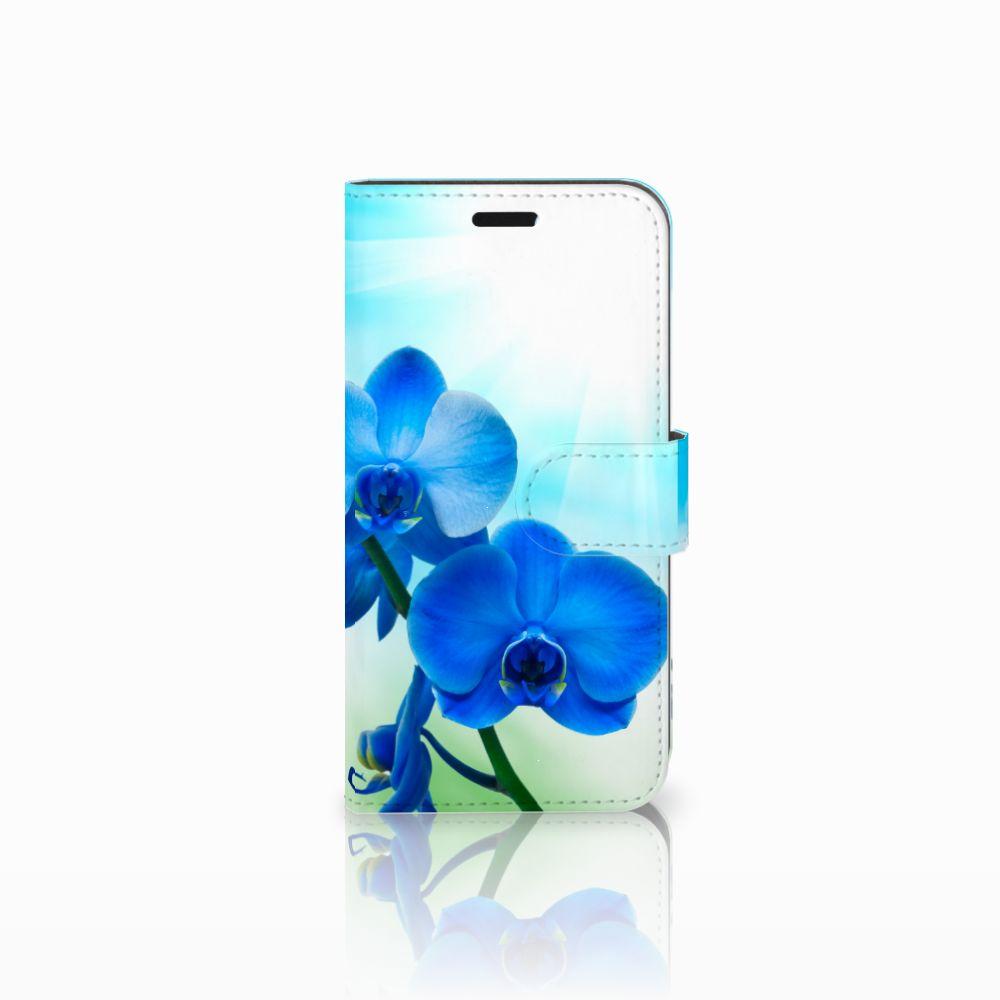 Huawei Nova Boekhoesje Design Orchidee Blauw