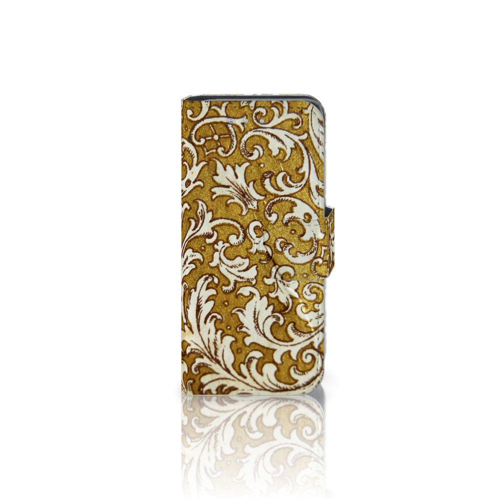 Samsung Galaxy S4 Mini i9190 Boekhoesje Design Barok Goud