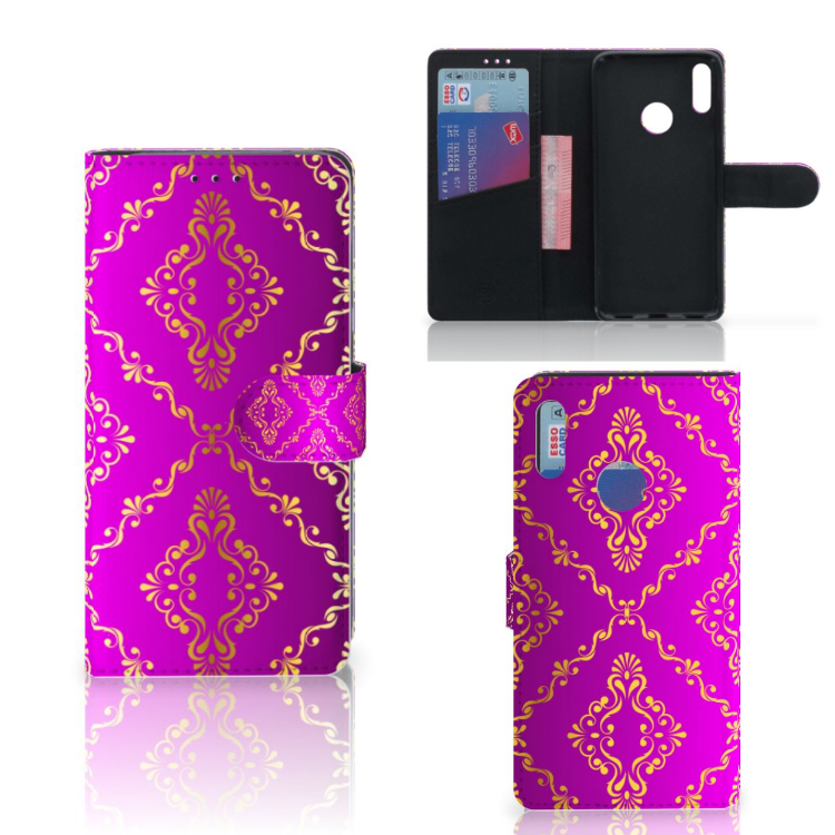 Wallet Case Huawei Y7 Pro | Y7 Prime (2019) Barok Roze