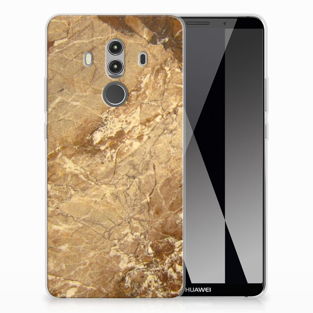 Huawei Mate 10 Pro TPU Siliconen Hoesje Marmer Creme