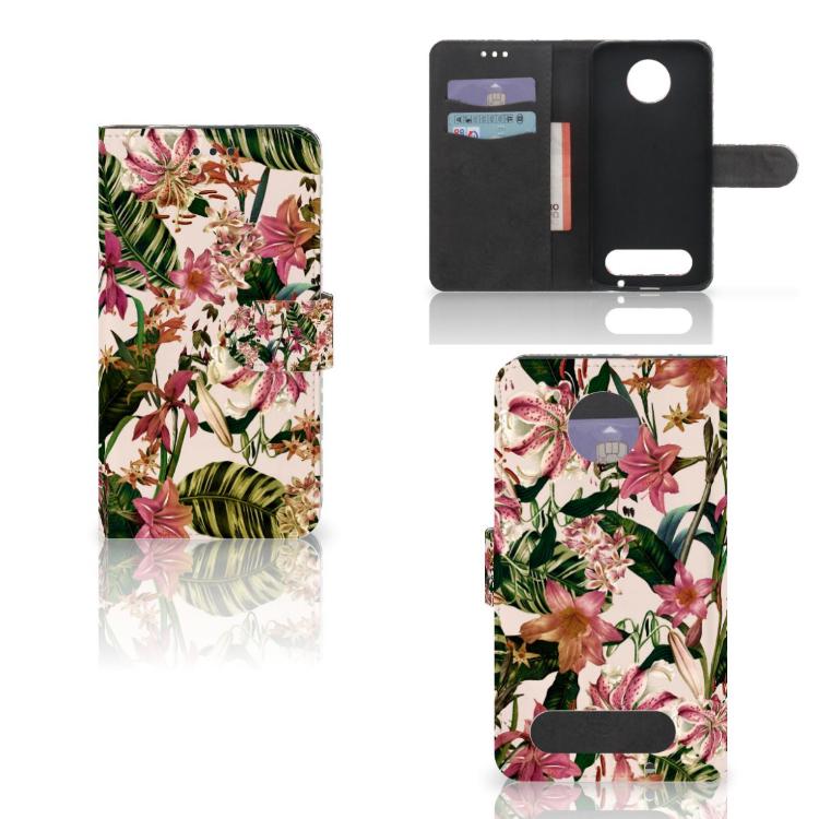Motorola Moto Z2 Force Hoesje Flowers