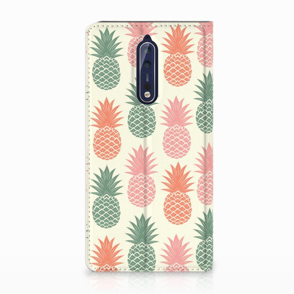 Nokia 8 Standcase Hoesje Design Ananas