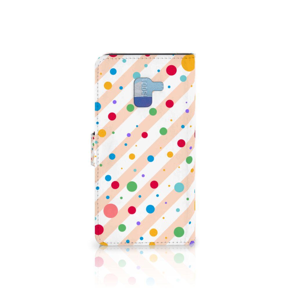 Samsung Galaxy A8 Plus (2018) Telefoon Hoesje Dots