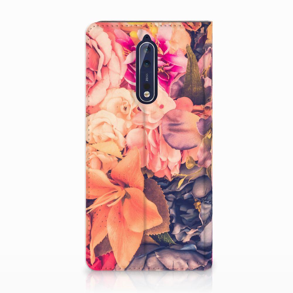 Nokia 8 Standcase Hoesje Design Bosje Bloemen