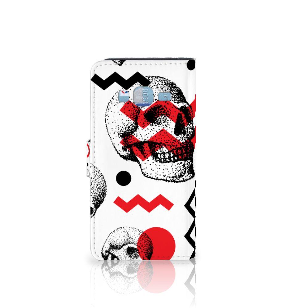 Telefoonhoesje met Naam Samsung Galaxy J3 2016 Skull Red