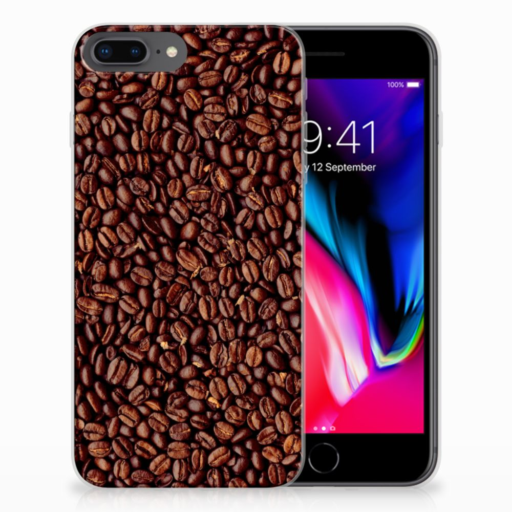 Apple iPhone 7 Plus | 8 Plus Siliconen Case Koffiebonen