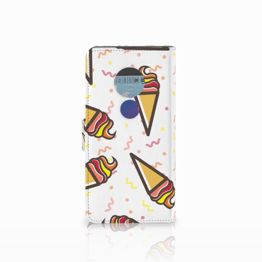 Motorola Moto E5 Book Cover Icecream