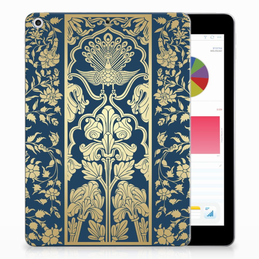 Apple iPad 9.7 2018 | 2017 Siliconen Hoesje Golden Flowers