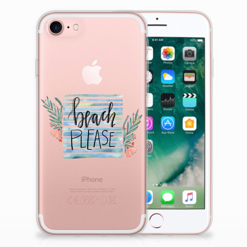 Apple iPhone 7 | 8 Uniek TPU Hoesje Boho Beach