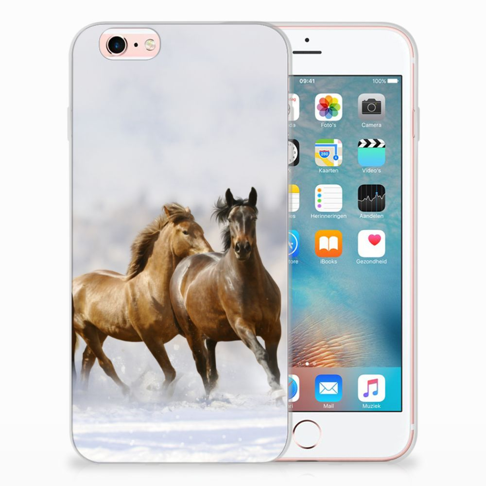 Apple iPhone 6 | 6s Leuk Hoesje Paarden