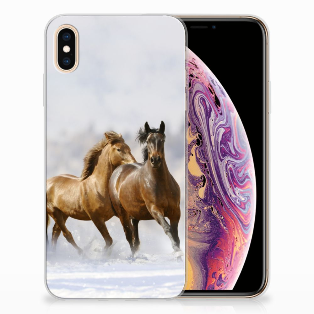 Apple iPhone Xs Max TPU Hoesje Paarden