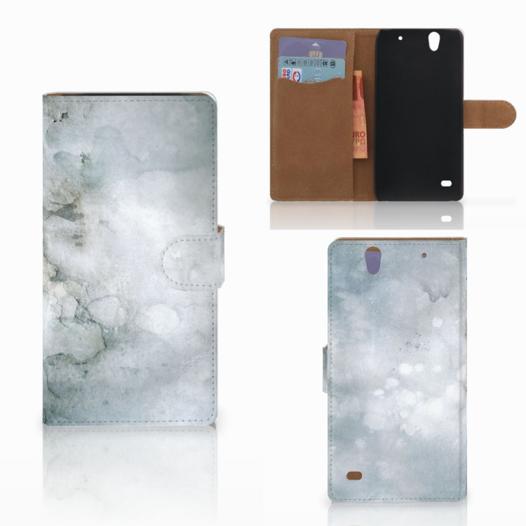 Hoesje Sony Xperia C4 Painting Grey