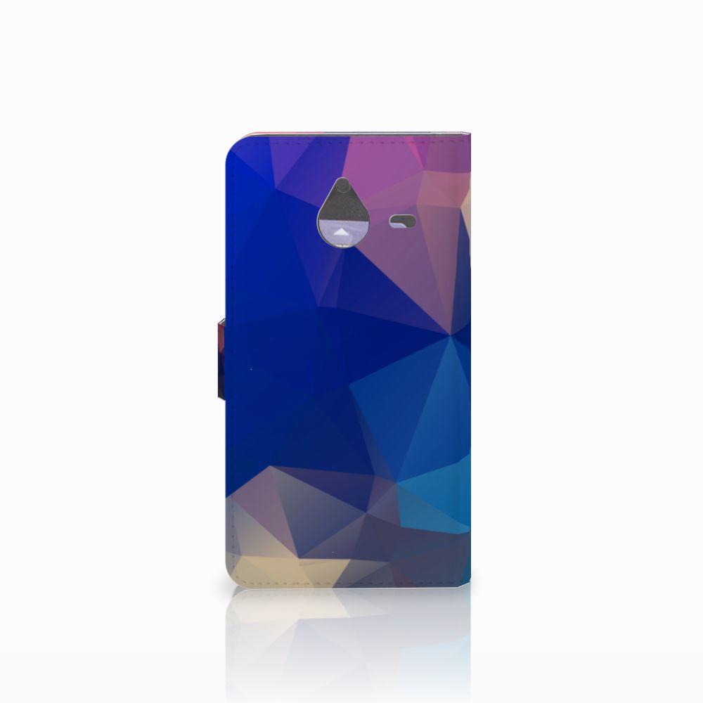 Microsoft Lumia 640 XL Bookcase Polygon Dark