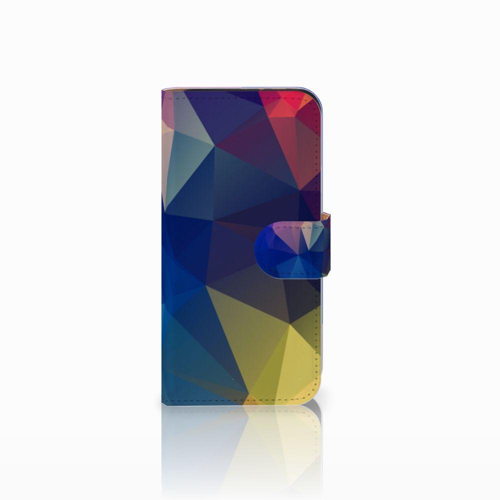 HTC One Mini 2 Uniek Boekhoesje Polygon Dark