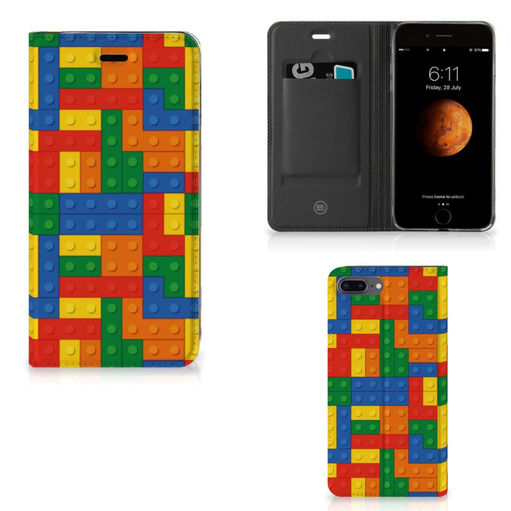 Apple iPhone 7 Plus   8 Plus Hoesje met Magneet Blokken
