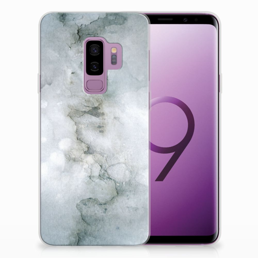 Samsung Galaxy S9 Plus Uniek TPU Hoesje Painting Grey