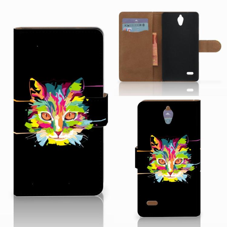 Huawei Ascend G700 Leuke Hoesje Cat Color