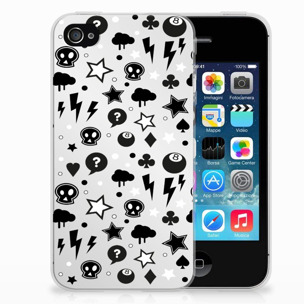 Apple iPhone 4 | 4s Uniek TPU Hoesje Silver Punk