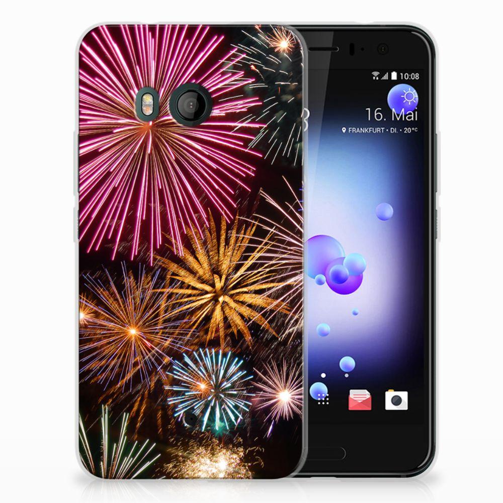 HTC U11 TPU Hoesje Design Vuurwerk