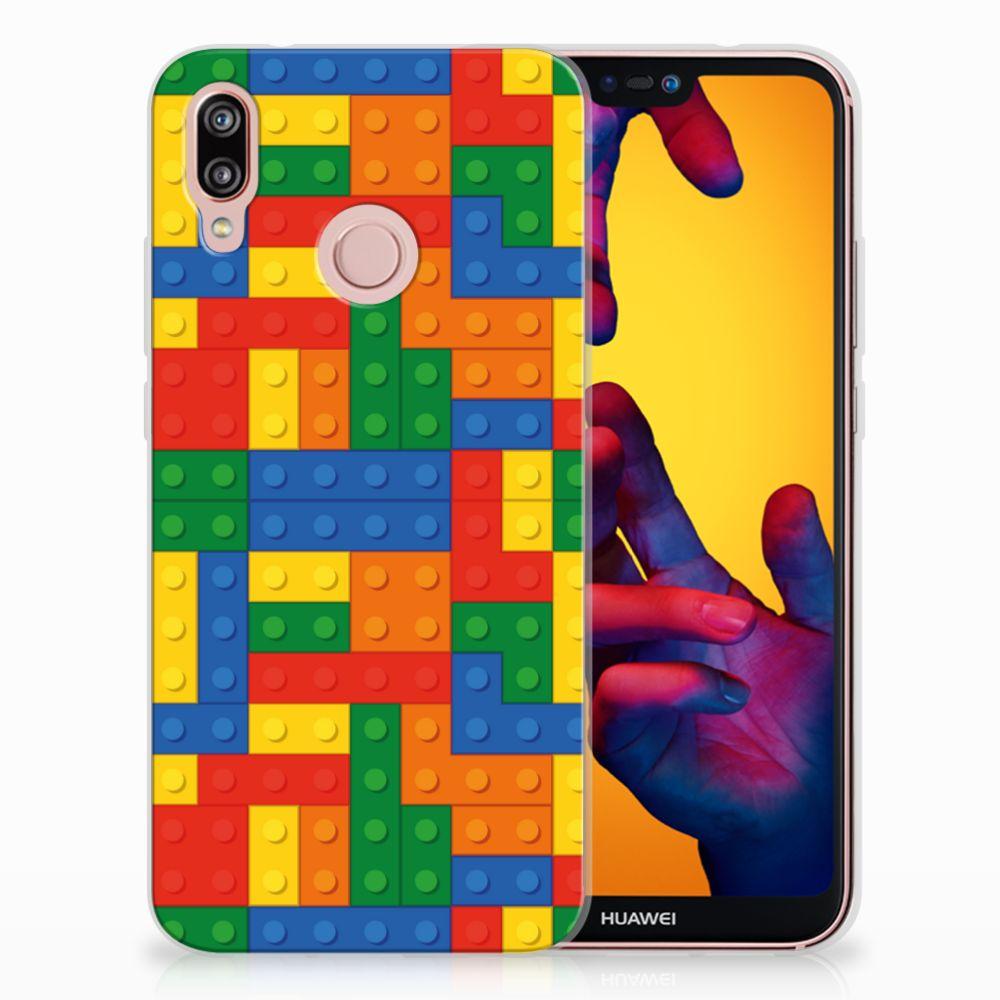 Huawei P20 Lite TPU Hoesje Design Blokken