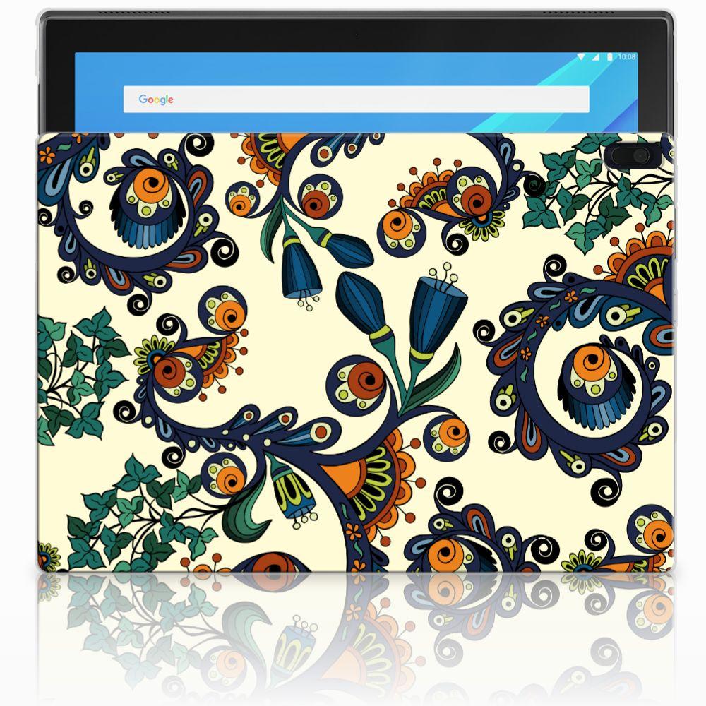 Lenovo Tab 4 10.1 Tablethoesje Design Barok Flower