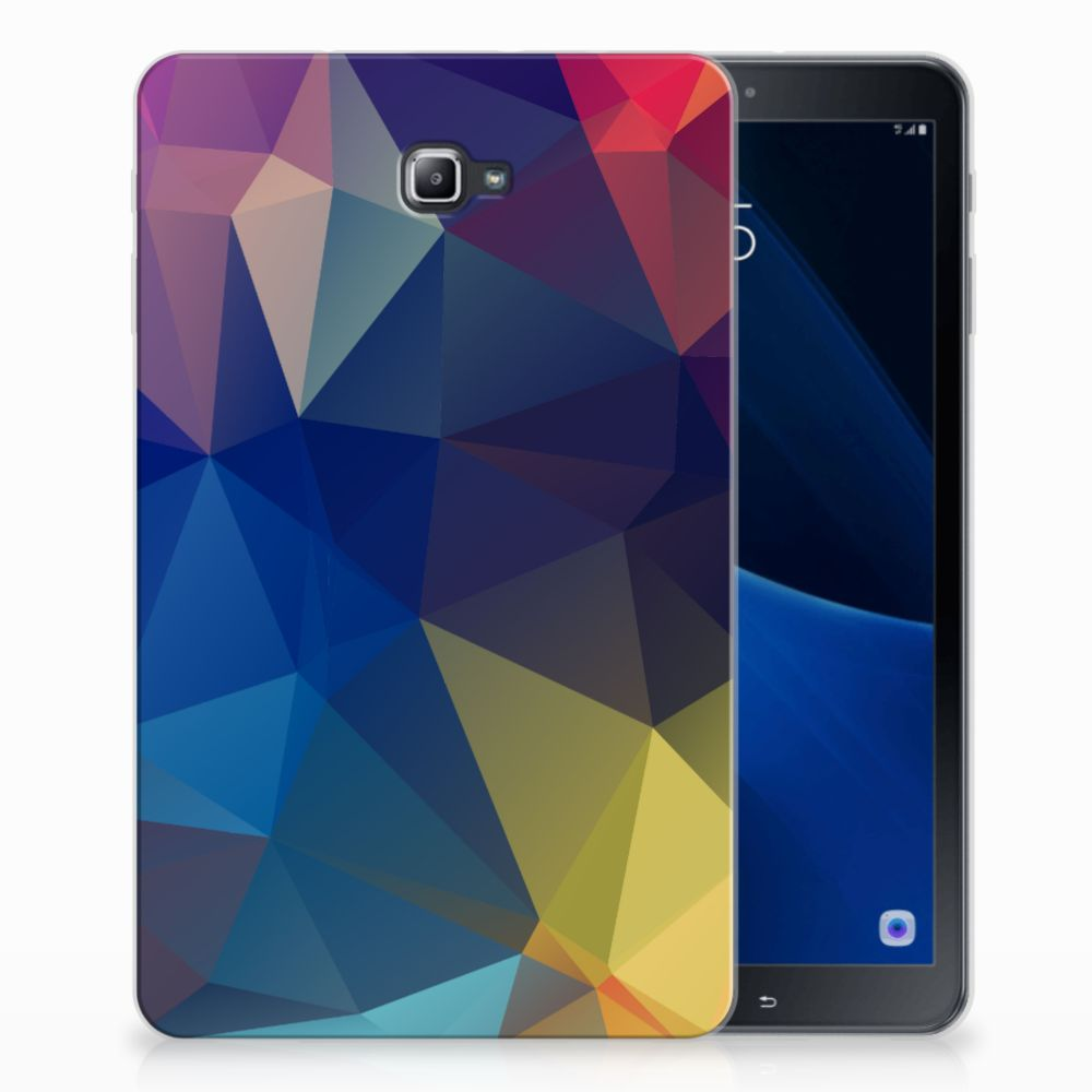Samsung Galaxy Tab A 10.1 Back Cover Polygon Dark