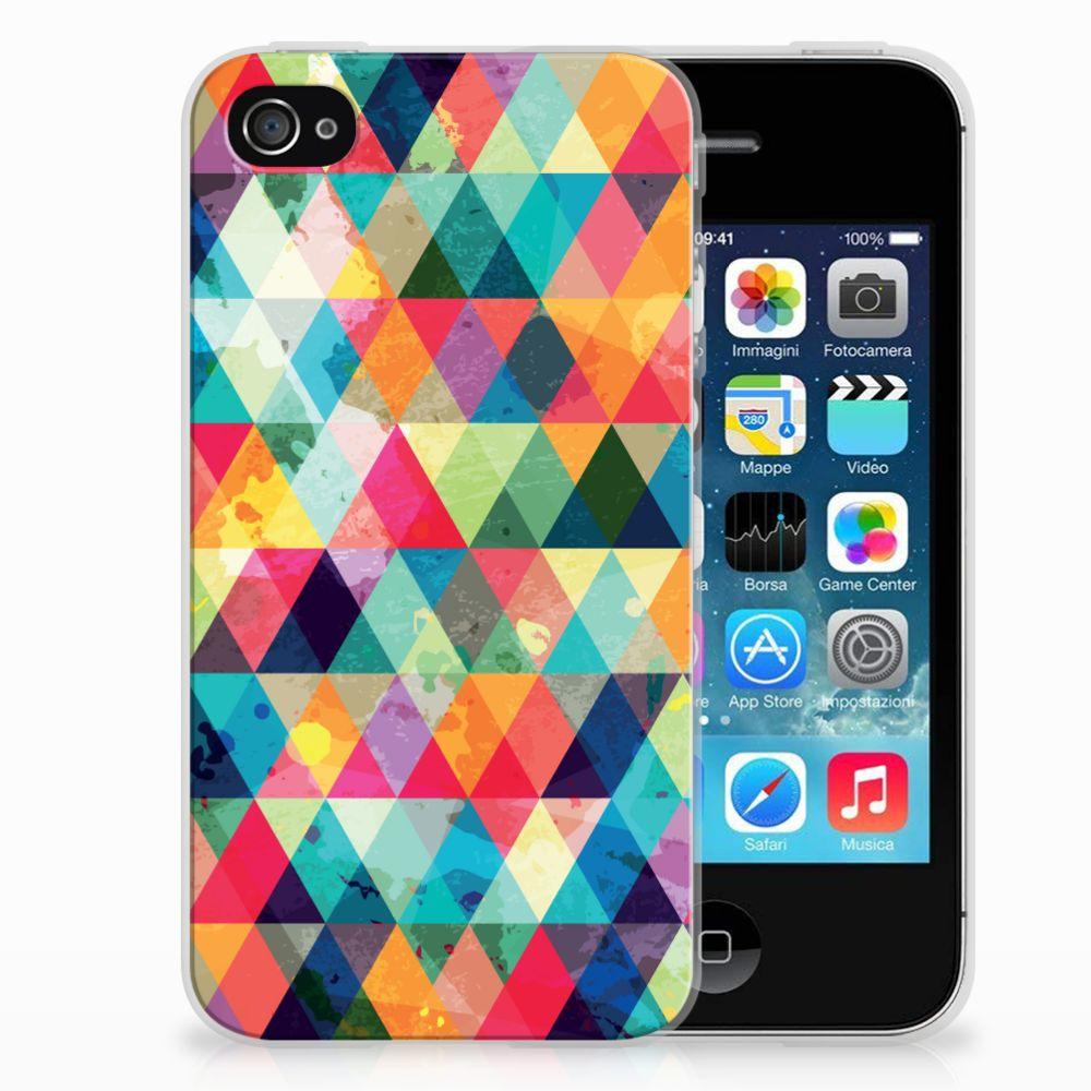 Apple iPhone 4 | 4s Uniek TPU Hoesje Geruit
