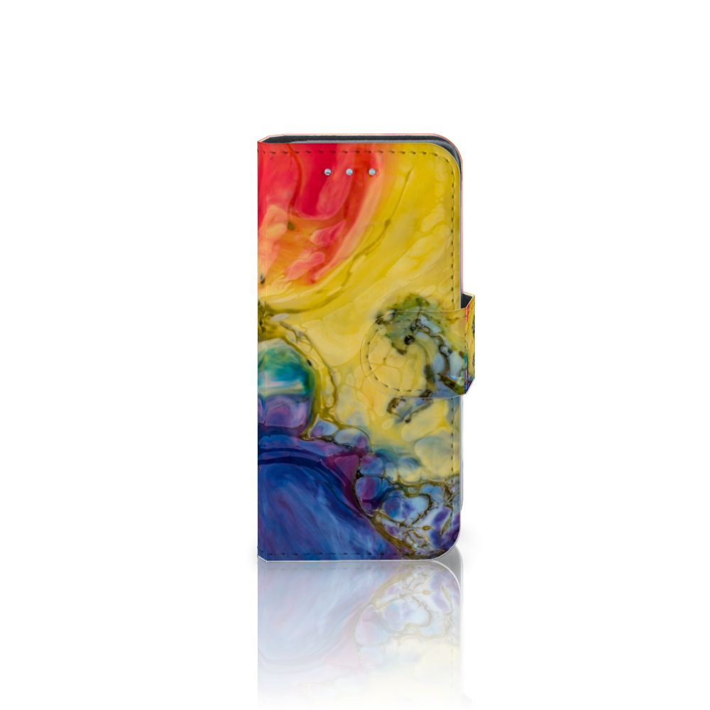 Samsung Galaxy S4 Mini i9190 Uniek Boekhoesje Watercolor Dark