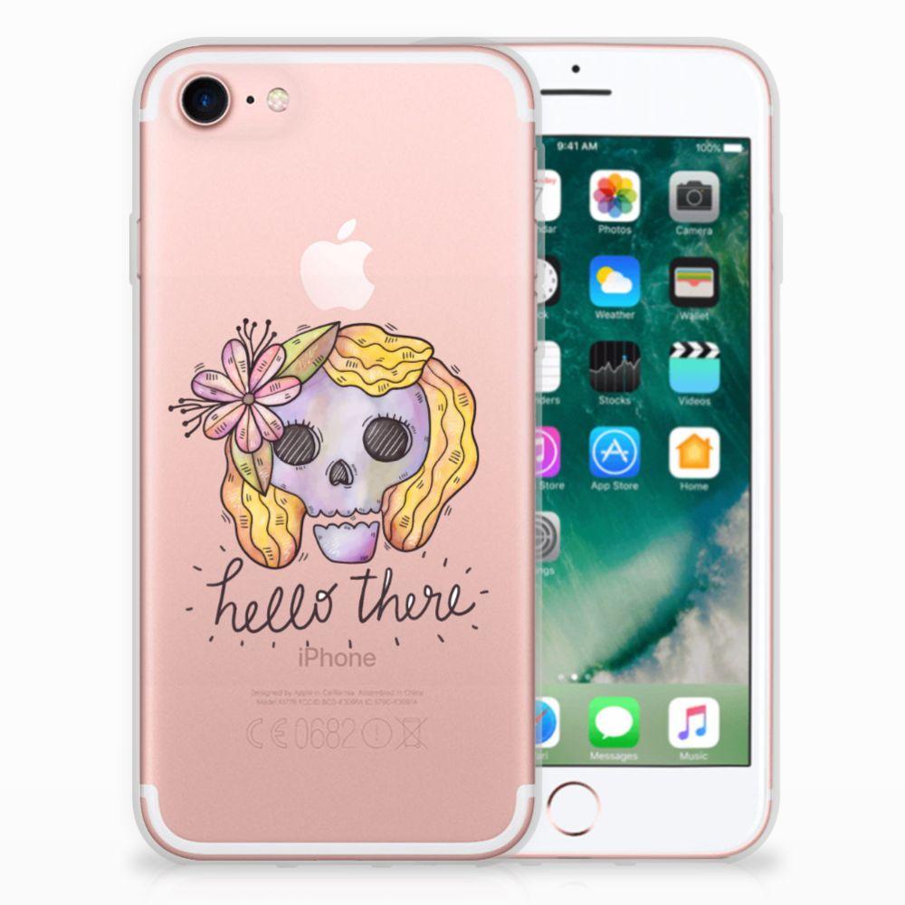 Apple iPhone 7 | 8 Uniek TPU Hoesje Boho Skull
