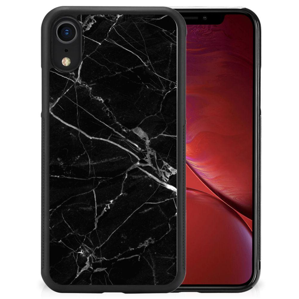 Apple iPhone Xr Gripcase Marmer Zwart - Origineel Cadeau Vader