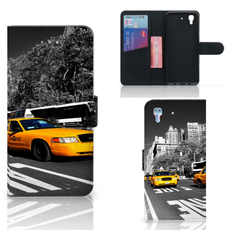 Honor 4A | Y6 Flip Cover New York Taxi