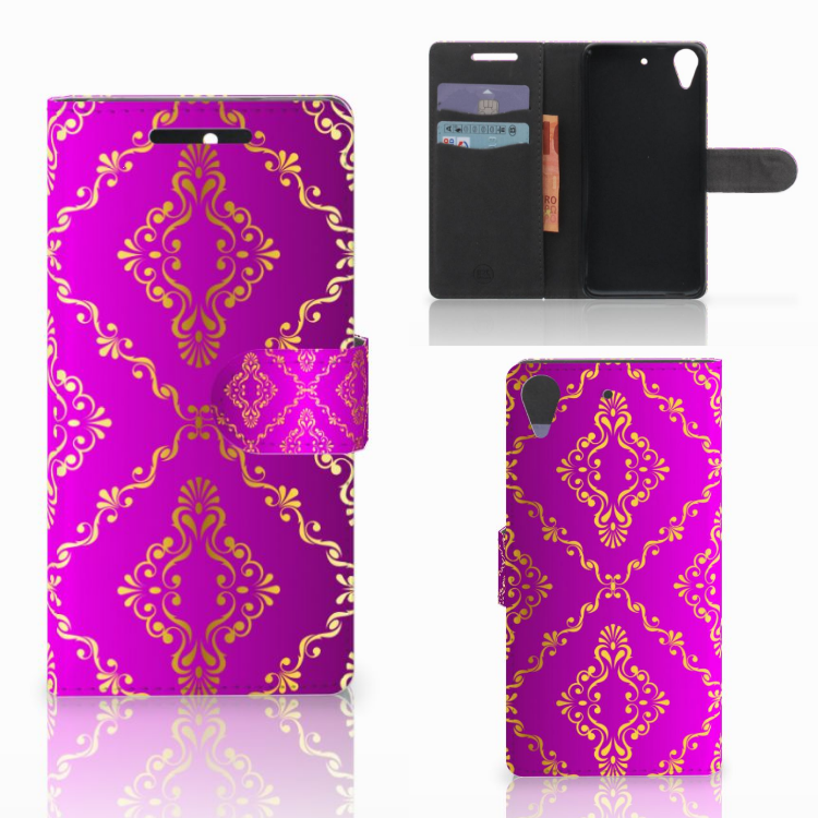Wallet Case HTC Desire 628 Barok Roze