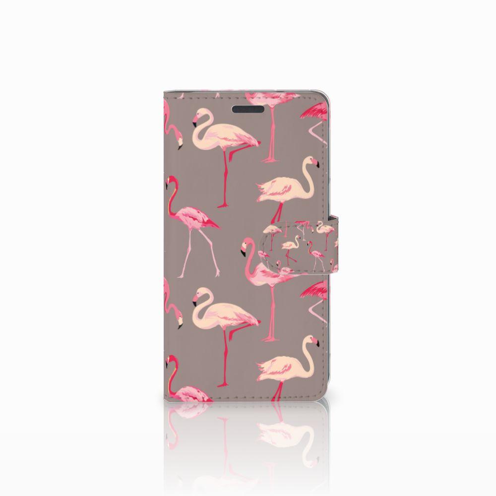 LG X Power Uniek Boekhoesje Flamingo