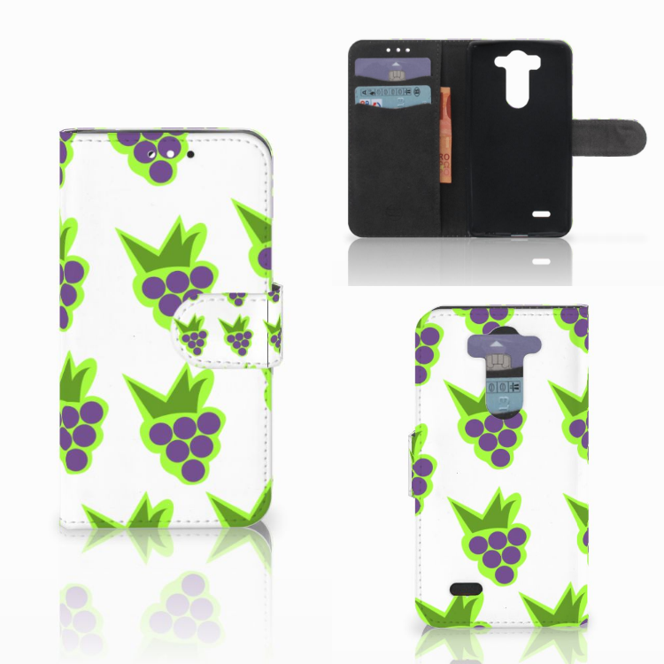 LG G3 S Book Cover Druiven