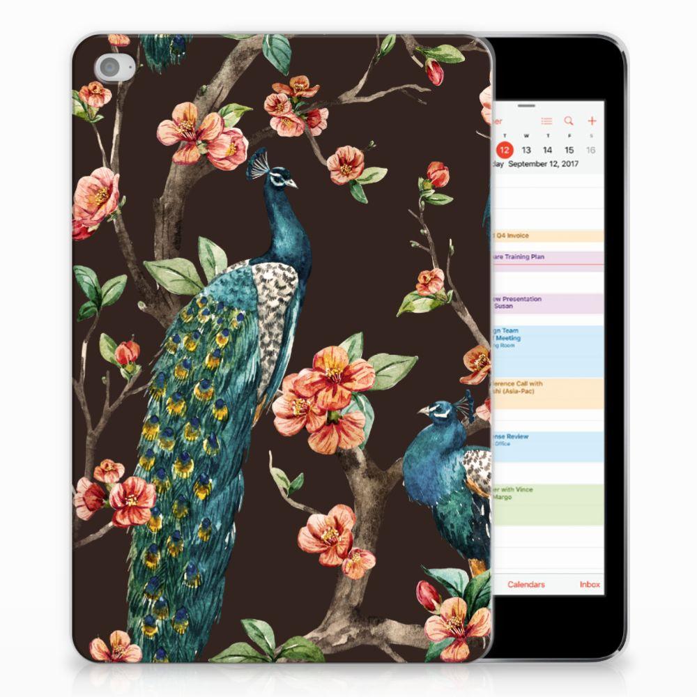 Apple iPad Mini 4 | Mini 5 (2019) Back Case Pauw met Bloemen